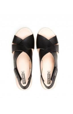 Zapato mujer Pikolinos Costacabana W3X color negro vista desde arriba